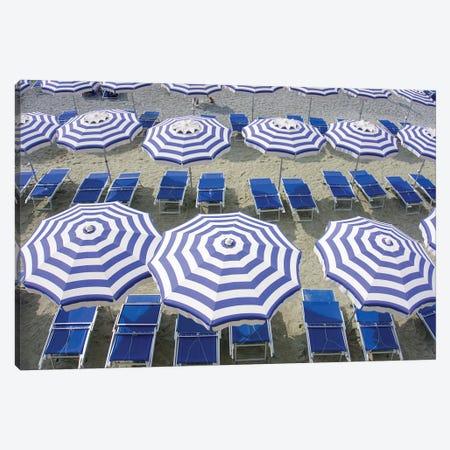 Blue Umbrellas...One Is Not Enough Canvas Print #ZSC10} by Zoe Schumacher Canvas Print