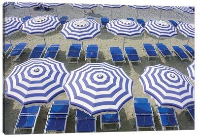 Blue Umbrellas...One Is Not Enough Canvas Art Print