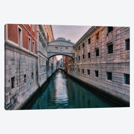 Bridge Of Sighs (Venice, Italy) Canvas Print #ZSC11} by Zoe Schumacher Art Print