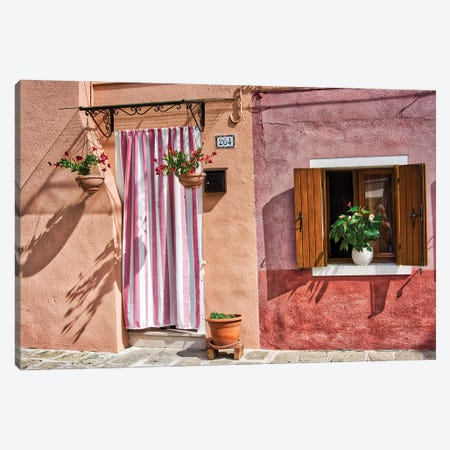 The Vibarant Colos Of A Burano Front Door Canvas Print #ZSC13} by Zoe Schumacher Canvas Art Print