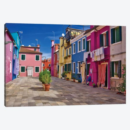 Burano Neighborhood Canvas Print #ZSC14} by Zoe Schumacher Canvas Wall Art