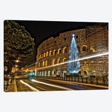 Christmas In Rome Canvas Print #ZSC15} by Zoe Schumacher Canvas Art