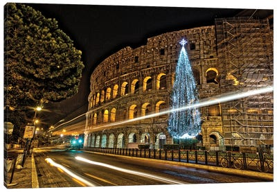 Christmas In Rome Canvas Art Print