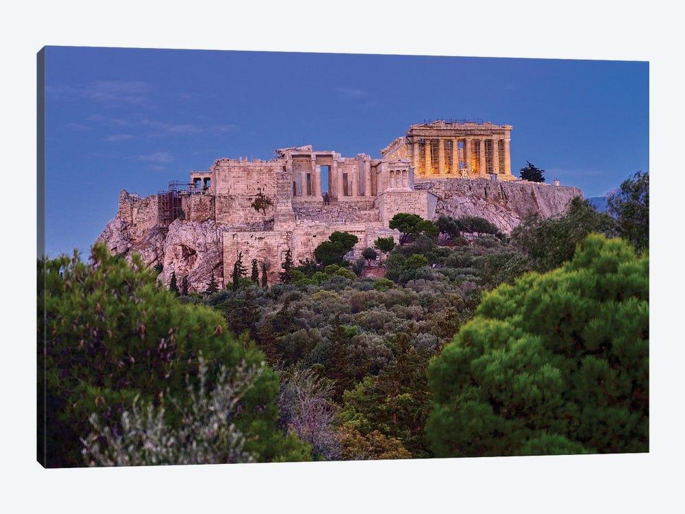 Blue Hour Of Acropolis Of Athens by Zoe Schumacher 1-piece Art Print