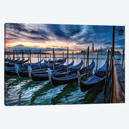 Gondolas Of Venice Canvas Print #ZSC26} by Zoe Schumacher Canvas Art Print