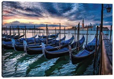 Gondolas Of Venice Canvas Art Print