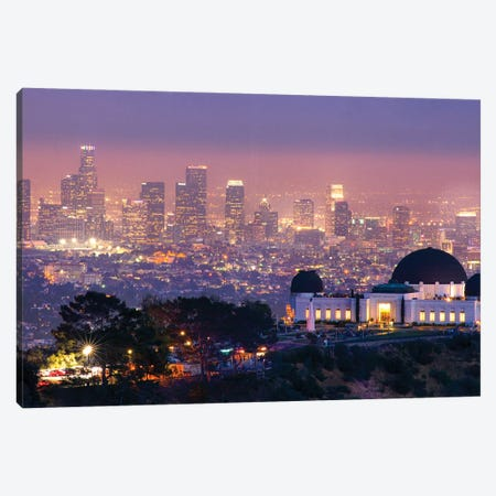 Griffith Park Observatory In Los Angeles Canvas Print #ZSC28} by Zoe Schumacher Canvas Artwork