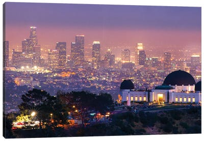Griffith Park Observatory In Los Angeles Canvas Art Print