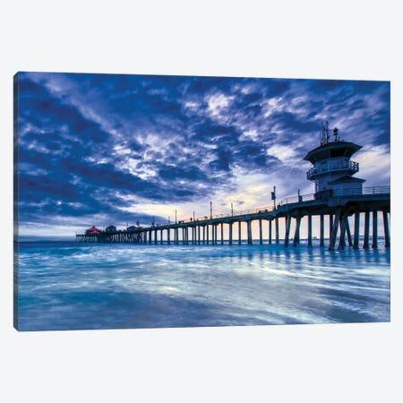 Huntington Beach Pier - Nothing But Blue Sky Canvas Print #ZSC29} by Zoe Schumacher Canvas Art