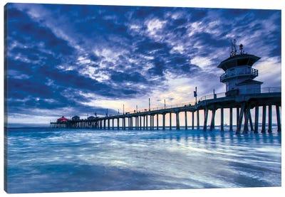 Huntington Beach Pier - Nothing But Blue Sky Canvas Art Print