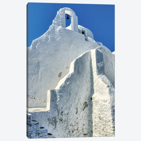 Bell Tower Of Church Of Panagia Paroportiani Canvas Print #ZSC2} by Zoe Schumacher Canvas Art