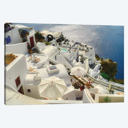 Santorini Oia Greece Canvas Print #ZSC35} by Zoe Schumacher Canvas Artwork