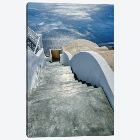 Stairway To The Aegean Sea Canvas Print #ZSC36} by Zoe Schumacher Canvas Artwork
