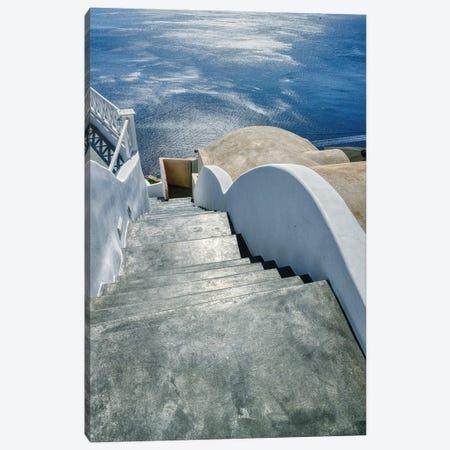 Stairway To The Aegean Sea Canvas Print #ZSC36} by Zoe Schumacher Canvas Artwork