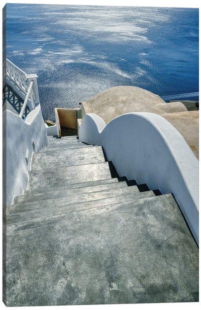 Stairway To The Aegean Sea Canvas Art Print