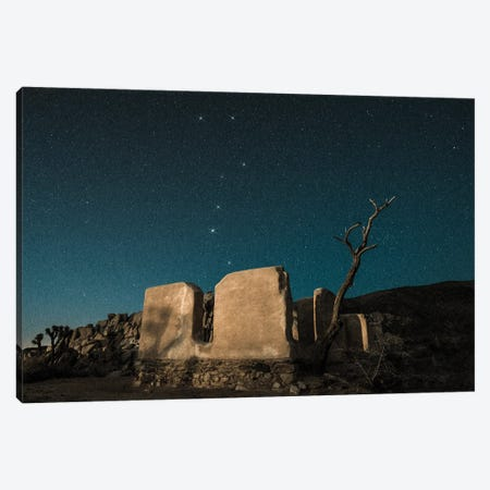 Big Dipper Rises Over Abandoned Adobe Home Canvas Print #ZSC3} by Zoe Schumacher Canvas Wall Art