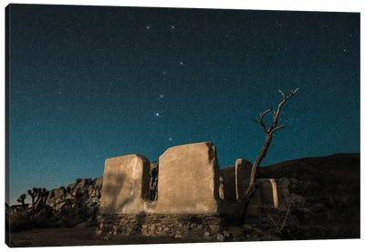 Big Dipper Rises Over Abandoned Adobe Home Canvas Art Print