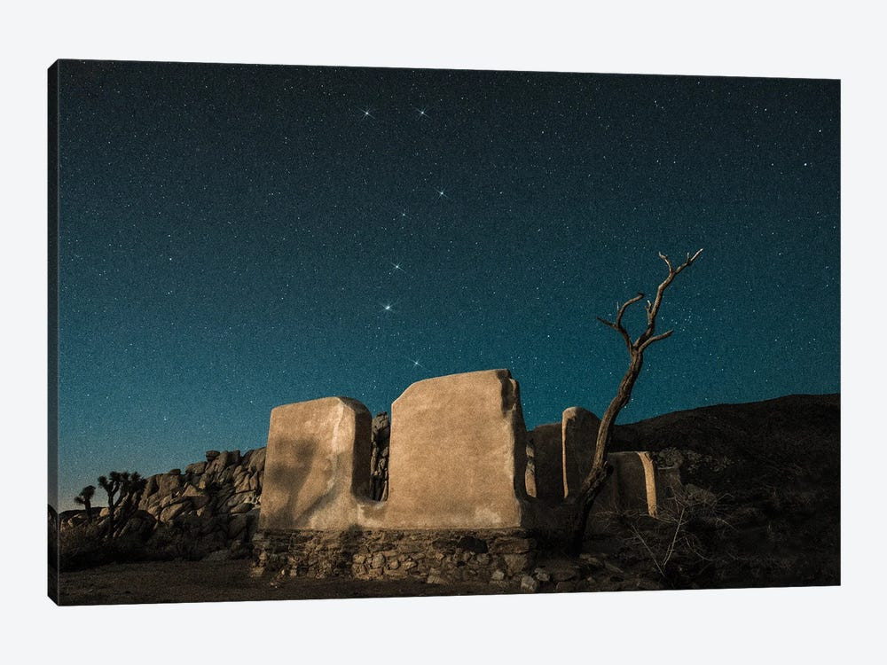 Big Dipper Rises Over Abandoned Adobe Home by Zoe Schumacher 1-piece Canvas Print