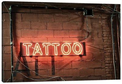 Neon Tatoo Sign Canvas Art Print