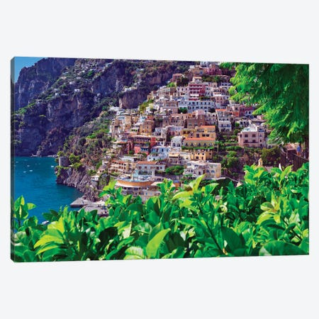 Positano Southern Italy Canvas Print #ZSC46} by Zoe Schumacher Canvas Art Print