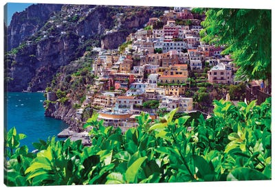 Positano Southern Italy Canvas Art Print