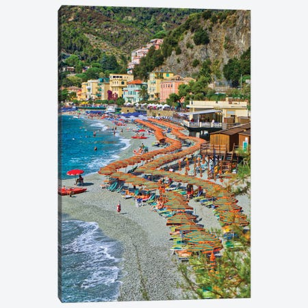 Take A Stroll @ Monterosso Al Mare Beach Cinque Terre Canvas Print #ZSC47} by Zoe Schumacher Canvas Art Print