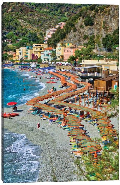 Take A Stroll @ Monterosso Al Mare Beach Cinque Terre Canvas Art Print