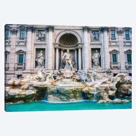 Trevi Fountain Canvas Print #ZSC48} by Zoe Schumacher Canvas Artwork