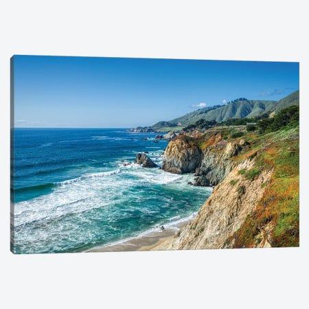 Big Sur Coastline Of California Canvas Print #ZSC4} by Zoe Schumacher Art Print