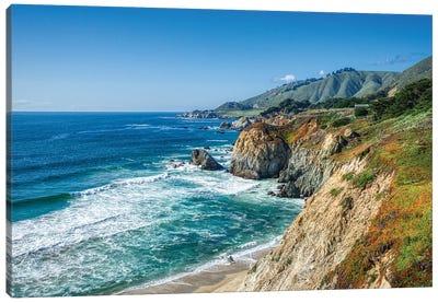 Big Sur Coastline Of California Canvas Art Print