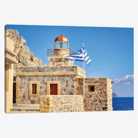 Monemvasia Fortress Lighthouse Canvas Print #ZSC58} by Zoe Schumacher Canvas Print