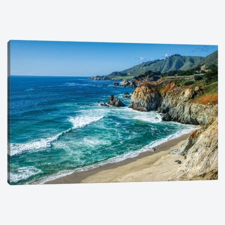Coastline Of California At Big Sur Canvas Print #ZSC5} by Zoe Schumacher Canvas Print