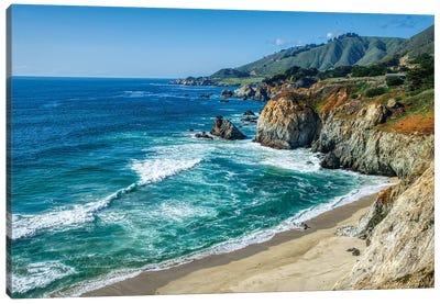 Coastline Of California At Big Sur Canvas Art Print