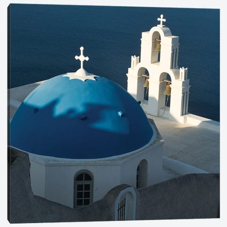 Santorini View From Fia Canvas Print #ZSC60} by Zoe Schumacher Canvas Artwork