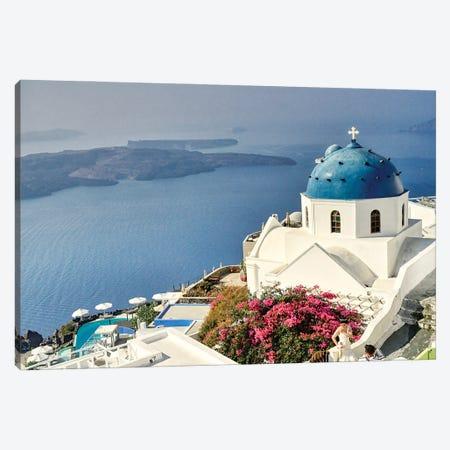 Santorini Canvas Print #ZSC61} by Zoe Schumacher Canvas Art