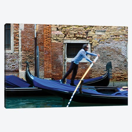 Gondolier Canvas Print #ZSC62} by Zoe Schumacher Canvas Wall Art
