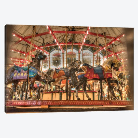 Santa Monica Pier Carousel Canvas Print #ZSC64} by Zoe Schumacher Canvas Art Print