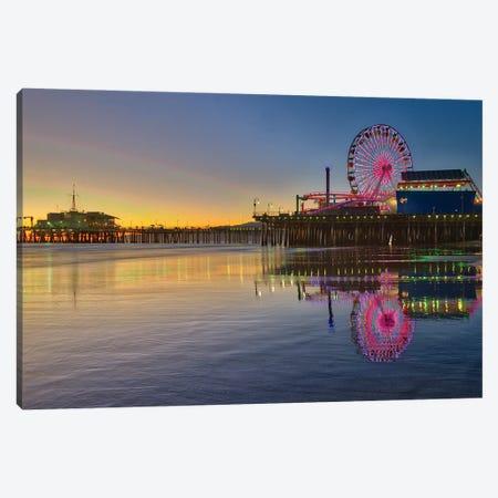 Santa Monica Pier Canvas Print #ZSC65} by Zoe Schumacher Canvas Art Print