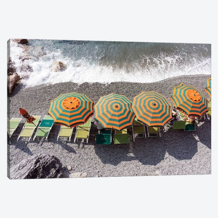 Monterosso - Beach I Canvas Print #ZSC66} by Zoe Schumacher Canvas Print