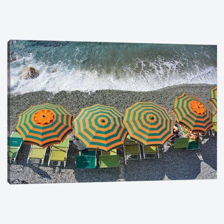 Monterosso - Beach II Canvas Print #ZSC67} by Zoe Schumacher Canvas Print