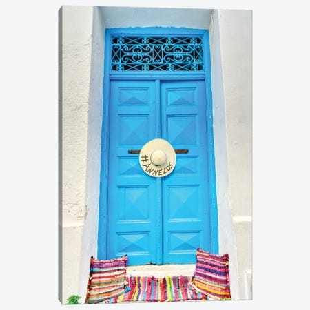 Doorway On Mykonos Canvas Print #ZSC6} by Zoe Schumacher Art Print