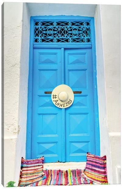 Doorway On Mykonos Canvas Art Print