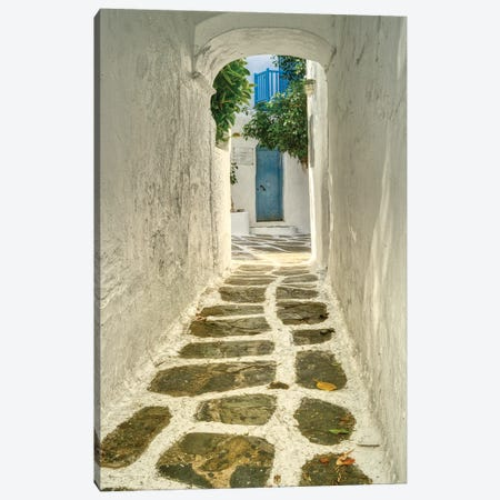 Walkway In Mykonos Canvas Print #ZSC71} by Zoe Schumacher Canvas Art Print