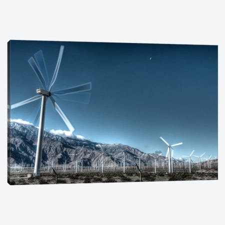 Wind Farms Of Palm Springs Canvas Print #ZSC73} by Zoe Schumacher Art Print
