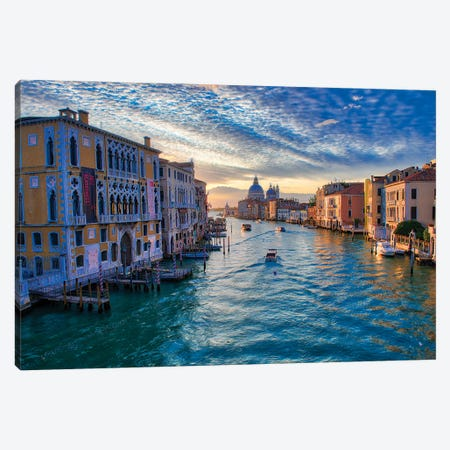 Sunrise On The Grand Canal Of Venice Canvas Print #ZSC74} by Zoe Schumacher Canvas Artwork