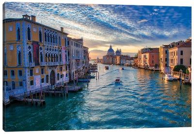 Sunrise On The Grand Canal Of Venice Canvas Art Print