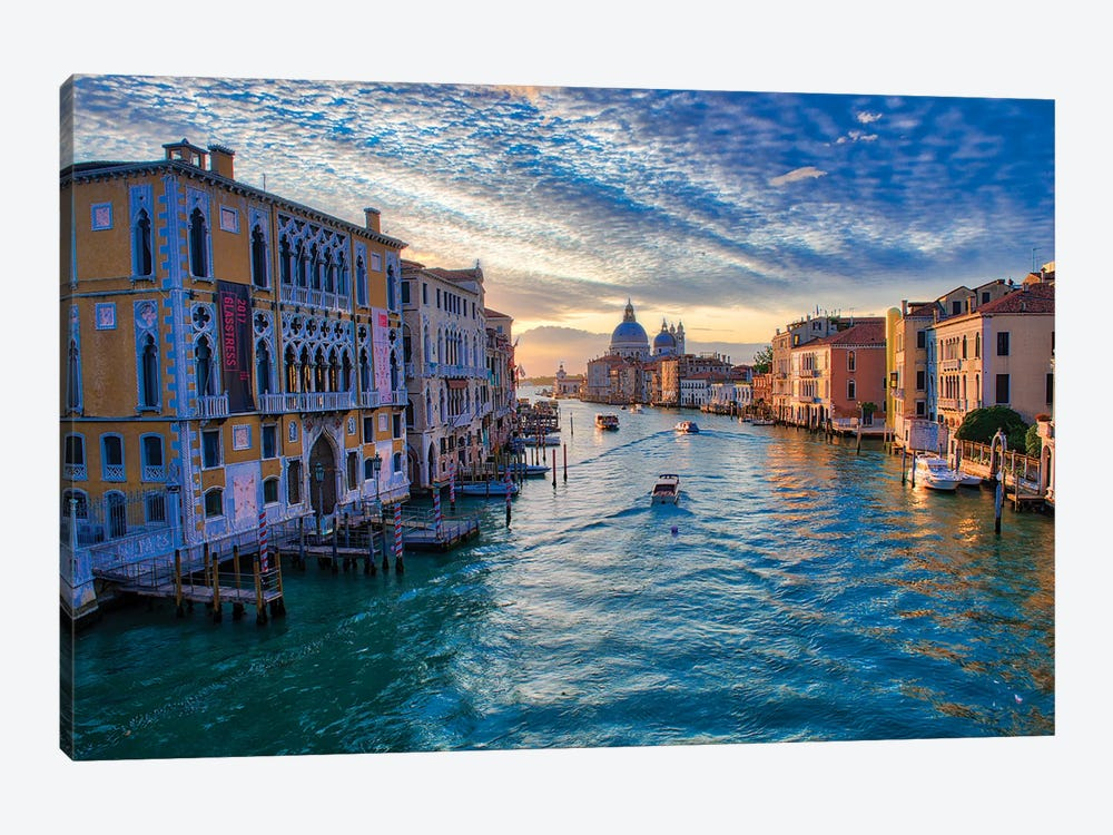 Sunrise On The Grand Canal Of Venice by Zoe Schumacher 1-piece Canvas Print