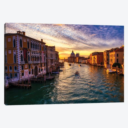 Sunrise On The Grand Canal Of Venice II Canvas Print #ZSC75} by Zoe Schumacher Canvas Artwork