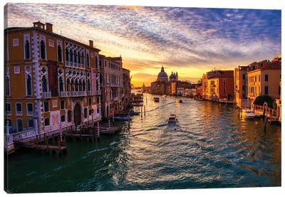 Sunrise On The Grand Canal Of Venice II Canvas Art Print