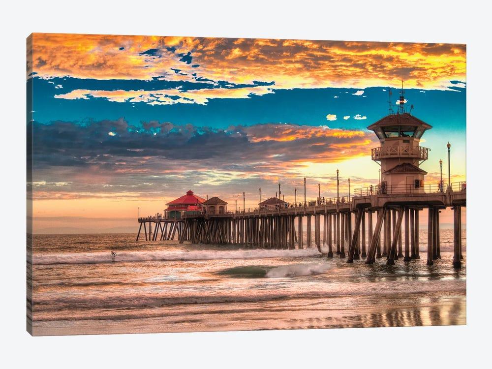 Huntington Beach Pier - Last Set. by Zoe Schumacher 1-piece Canvas Art